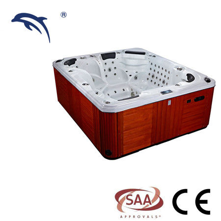 2600*2200*920mm Massage Spa Tub Center Drain Location With Freestanding Installation